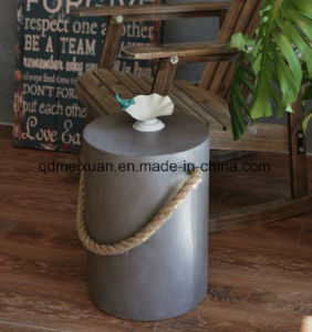 American Loft Industrial Wind Imitation Cement Low Stool Color Wooden Stool Change Stool Wooden Shoe Creative Small Stool Can Offer (M-X3566) pictures & photos
