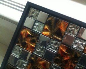 Beautiful Golden Glass Art Glass Mosaic (VMW3644 30X30cm) pictures & photos