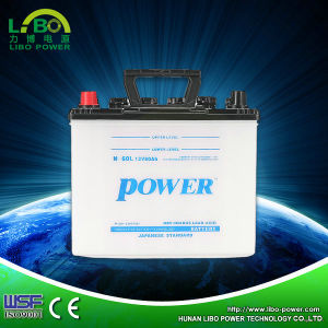 Rechargeable Dry Charge 12V 60ah JIS Standard Automotive Car Battery