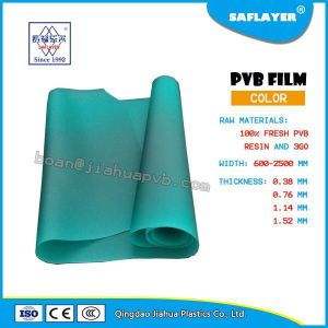 Suitable for Architecture Grade Thickness of 0.38mm Green PVB Film pictures & photos
