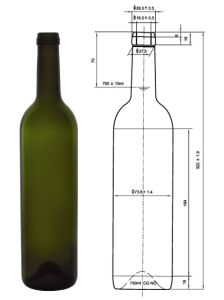 European Colored Glass Bottle for Wine