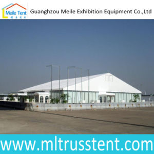 White PVC Roof Canvas 20X50m Big Trade Fair Glass Tent pictures & photos