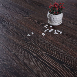 12mm Dark Cherry Beveled Water Proof Use German Technology with Ce and Unilin HDF Laminate Flooring pictures & photos