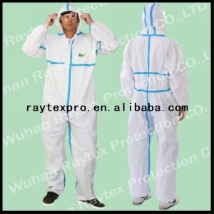 Type 4/5/6 Microporous Disposable Coverall with Sealed Seam