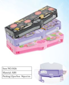 Fashion Pencil Pouch with Scissor, Stick Band, Ruler and Rubber -5026 (5026) pictures & photos