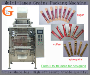 Multi-Lane 3in1 Coffee Stick Packing Machine (sugar; salt; food grains;) pictures & photos