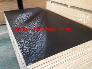 Black Color Magic Wave Design Surface Melamine MDF Board pictures & photos