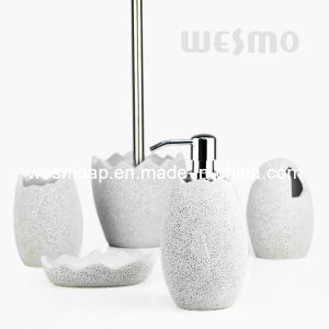 Egg Shape Polyresin Bath Accessories Set (WBP0847A) pictures & photos