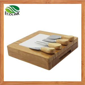 Bamboo & Ceramic Cutting Board with Cheese Knife Set pictures & photos