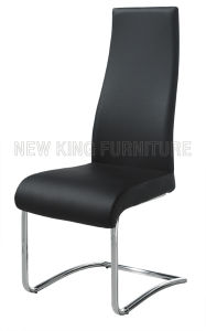 Fashion Luxurious Chrome Steel Foot PU Leather Dining Chair (NK-DC073)