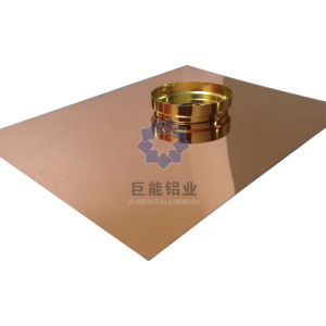 Rose Color Printing Mirror Aluminium Sheet for ACP/ Decoration/ Nameplates (C6300.30)
