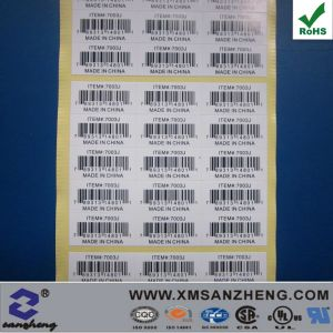 Customized Barcode Label (SZ14022) pictures & photos