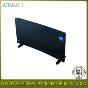 High Cost Performance Electrical Curved Portable Glass Panel Bathroom Heater with Ce/CB/GS Approved pictures & photos