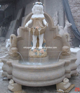 Stone Marble Fountain with Statue for Garden, Hotel pictures & photos