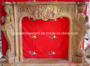Hand Carved Marble Fireplace Mantel (GS-AF-002) pictures & photos