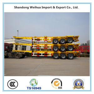 China 40FT Tri Axle 40t Skeleton Container Semi Trailer for Promotion pictures & photos