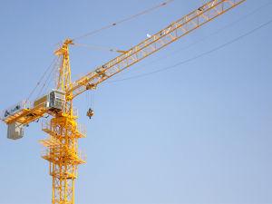 Flattop Tower Crane Qtz125 Construction