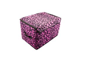 2015 Best Quality Rose Red Leopard Printed Storage Bag Box pictures & photos