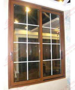 Durable Woodgrain Aluminum, Aluminium Casement Window (BHA-CWP15) pictures & photos