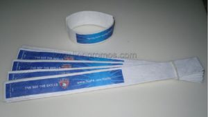 Public Campaign Concert Sports Game Membership Idification Tyvek Wrist Band pictures & photos