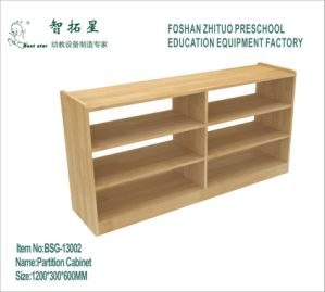 Bsg-13002 Wooden Storage Cabinet for Preschool