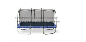 9X15FT Rectangle Trampoline with 4 Legs and Safety Enclosure Net pictures & photos