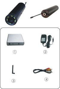 2.4GHz Wireless Mini Sewer Pipe Inspection Camera with Mini AV Receiver (night vision, 5 meters view) pictures & photos