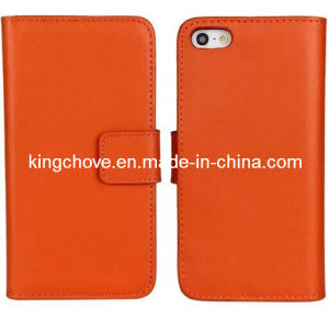 Fashion and Best Selling Camel Leather iPhone 5 Case (KCI06-4) pictures & photos
