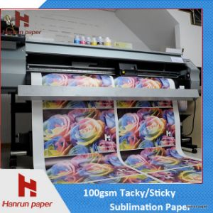 64′′ Sublimation Roll Paper/Tacky Sublimation Transfer Paper for Sportsweare