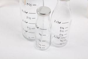 Milk Bottle /Juice Glass Bottle with Metal Lid Factory Direct Sale pictures & photos