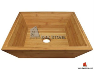 Square Shape Bamboo Vessel Sink for The Bath pictures & photos