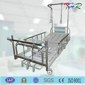 Hospital 3-Crank Manual Orthopaedic Bed pictures & photos