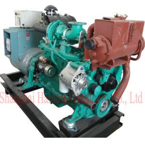 Cummins 6BT5.9-GM Engine with Marathon MP-H-75-4 Alternator 75kw Marine Genset pictures & photos