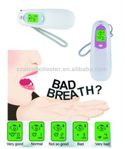 Portable Bad Breath Tester with Digital LCD and Cartoon Indication with Backup Light (200)