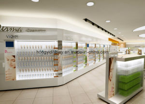 White Color Liquid Painting Cosmetic Retail Shop Display Table pictures & photos