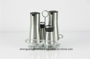 Food Grade Metal Spice Jar and Galss Oil & Vinegar Bottle Set Factory Direct Sell Seasoning Pot pictures & photos