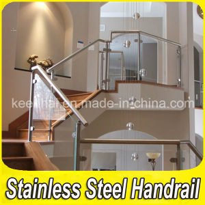 Stainless Steel Stair Railing with Glass pictures & photos