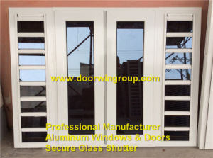 Aluminum Glass Shutter Window with Flyscreens pictures & photos