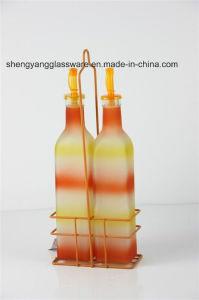 Fashion Liquid Color Condiment Glass Bottle with Lid pictures & photos