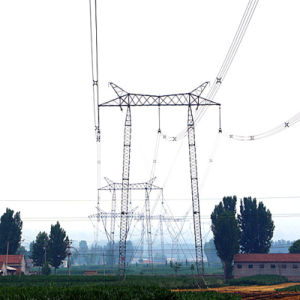 500 Kv Gate-Shaped Lattice Steel Tower pictures & photos