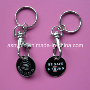 Trolley Coin Keychain Shopping Cart Single Coin pictures & photos