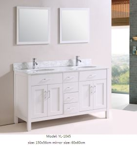 Modern Bathroom Vanity with Marble Top Ceramic Basin