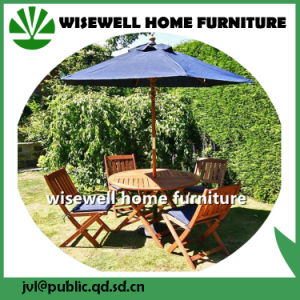 Outdoor Furniture Rectangle Table and Folding Chair with Umbrella pictures & photos