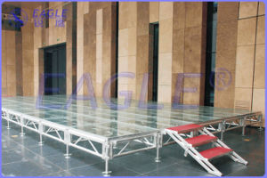 3c Certificate Adjustable Aluminum Transparent Glass Stage for Concert&Fashion Show