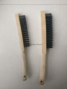 (Wooden handle) Plastic Handle Hot Sale Cleaning Steel Wire Brush pictures & photos