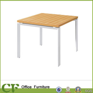 Home Furniture Dining Table Designs Wuth High Steel Frame Legs pictures & photos