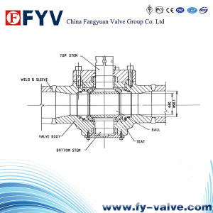 High Pressure Martensitic Stainless Steel Ball Valve pictures & photos