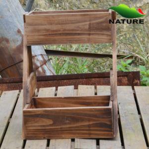 Basket Wood Flower Planter for Garden