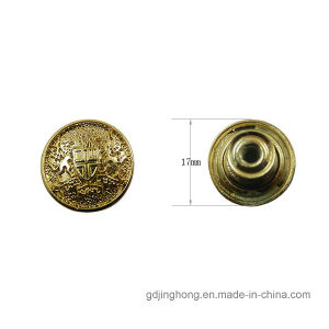 Wholesale Zinc Alloy Gold Plating Button for Garment Bags pictures & photos