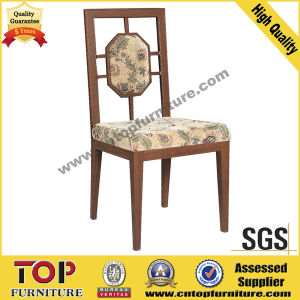 Chinese Style Aluminum Imitated Wood Dining Chair pictures & photos